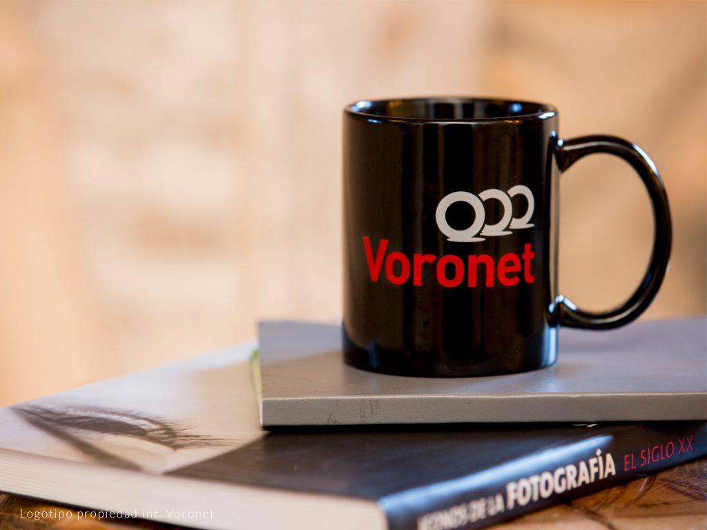 Black ceramics mug with a company logo imprint
