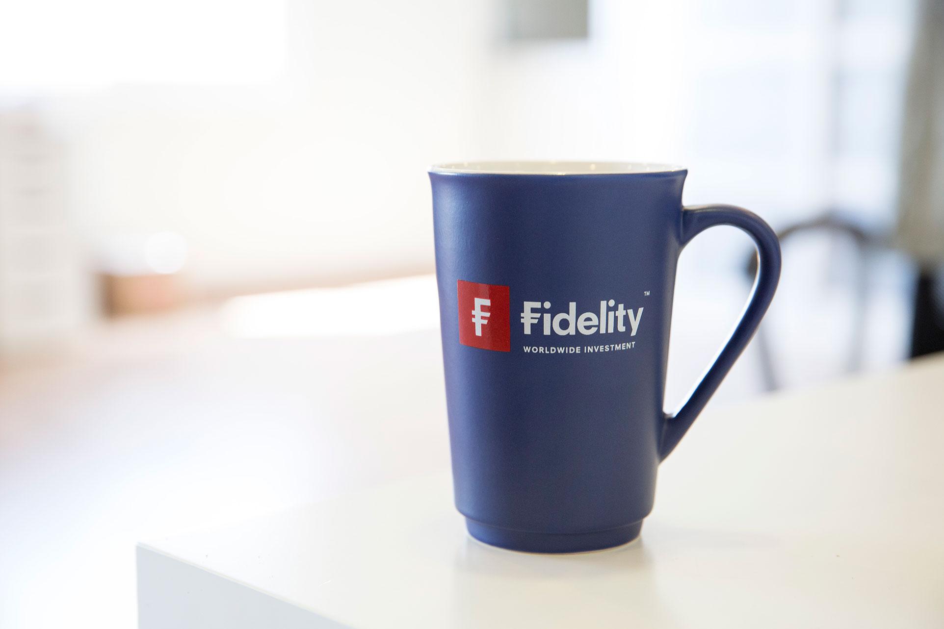 Matt ceramic mug with a company logo imprint