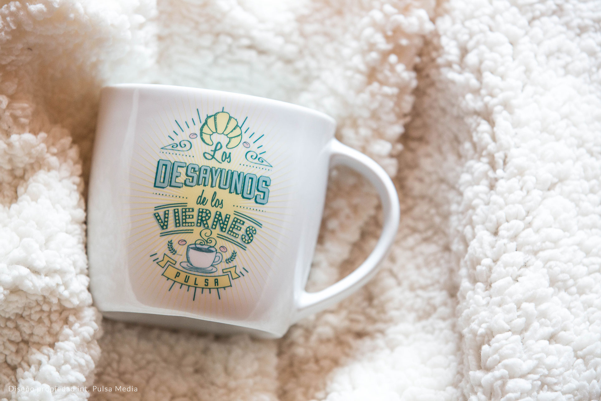 Personalized mug with transfer decal