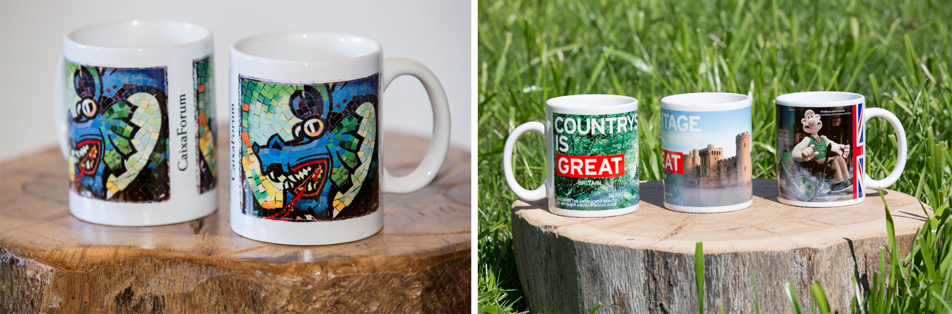 Sublimation printed mugs