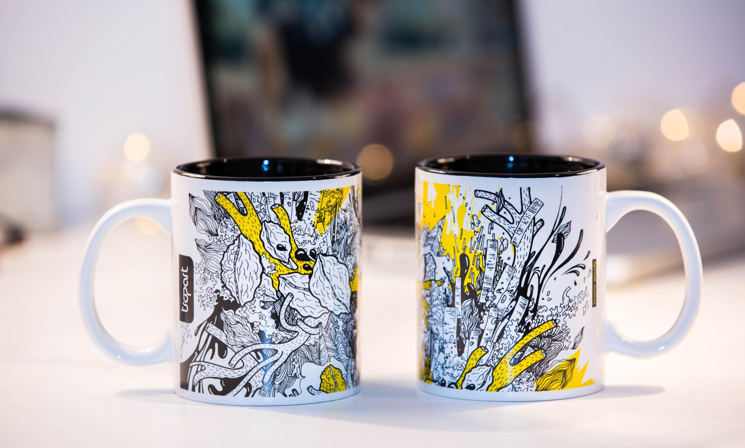 Tazas de cerámica personalizadas